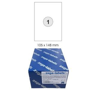 500 A6 labels 105 x 148 mm self-adhesive single = DIN A6 sheets (1x1 label DIN A6) - 500 sheets BigPack - Universally applicable for laser / inkjet / copier - address labels 148 x 105 mm single - 105x148mm