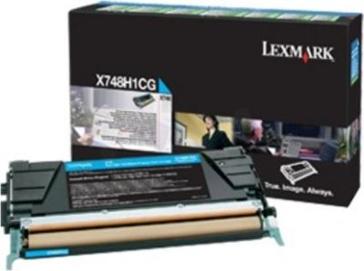 Lexmark Toner - Cyan - High Yield, 10K - for X746, X748 Series